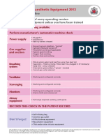 Checklist for Anaesthetic Equipment 2012