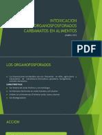 INTOXICACION DE ORGANOSFOSFORADOS CARBAMATOS EN ALIMENTOS