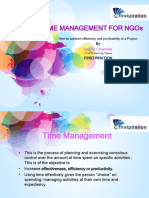 Time Management for NGOs -Firstpiration