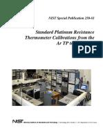 NIST Standard Platinum Resitance Thermometer