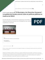 Foro Internacional El Municipio y Los Derechos Humanos