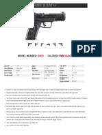 Ruger Security 9 Spec Sheet