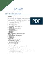 Jacques Le Goff-Intelectuali in Evul Mediu