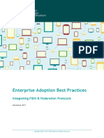 Enterprise Adoption Best Practices Federation FIDO Alliance