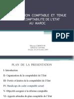Lorganisation de La Comptabilité de Letat Au Maroc