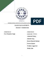 Final Sales Management Report