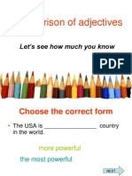 Comparison of Adjectives Games 12996