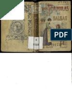 Cien Fórmulas Para Preparar Salsas c 1900