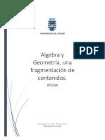 geometria y algebra una fragmentacion de contenidos