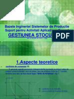 Tema 4 - Bazele ingineriei si sistemelor de productie