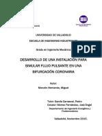 Desarrollo  Una Instalación Para Simular Flujo Pulsante en Una Bifurcación Coronaria
