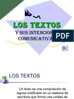 Los textos y Sus Intenciones Comunicativas