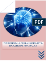 Fundamental of Rural Sociology Educational Psychology