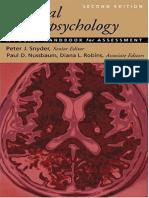Clinical Neuropsychology - P. Snyder, Et. Al
