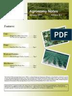 January 2011 Agronomy Notes