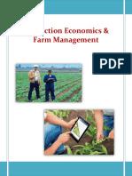 Production Economics Farm Management
