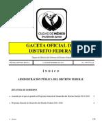 Programa General de Desarrollo Del Distrito Federal 2013-2018