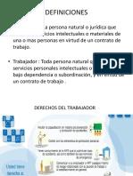 DEFINICIONES de Empleador y Trabajador
