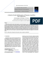 A Model to Predict Stall Inception of Transonic Axial Flow Fan and Compressors