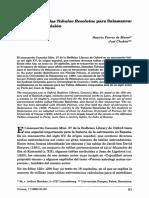 1998 Los Cánones de Las Tabulae Resolutae Para Salamanca. Origen y Transmisión