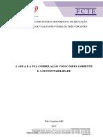A Água e a Sua Correlação Com o Meio Ambiente e a Sustentabilidade - Pin III