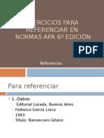 Ejercicios Para Referenciar en Normas Apa 6º Edición