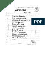 Abecedarul -Poezie de I. Vieru