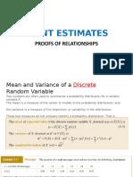 Lecture Slides - 04A - Point Estimates -Proofs