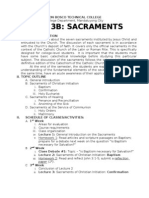 The Seven (7) Sacraments Revised Topic Outline