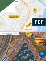 Plano de Situación Café Del Mar Club Barcelona Port Fòrum