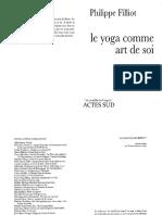 Le Yoga Comme Art de Soi - Phillipe Filliot