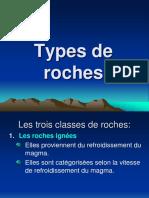 Types de Roches