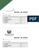 Boleta Notas