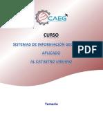 Estructura Del Curso - SIG Aplicado Al Catastro Urbano