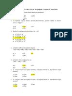 Preguntas Para Examen Final de Quimica y Fisica Tercero
