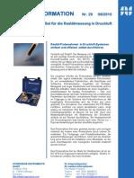 Restöl-Probenahmen in Druckluft-Systemen