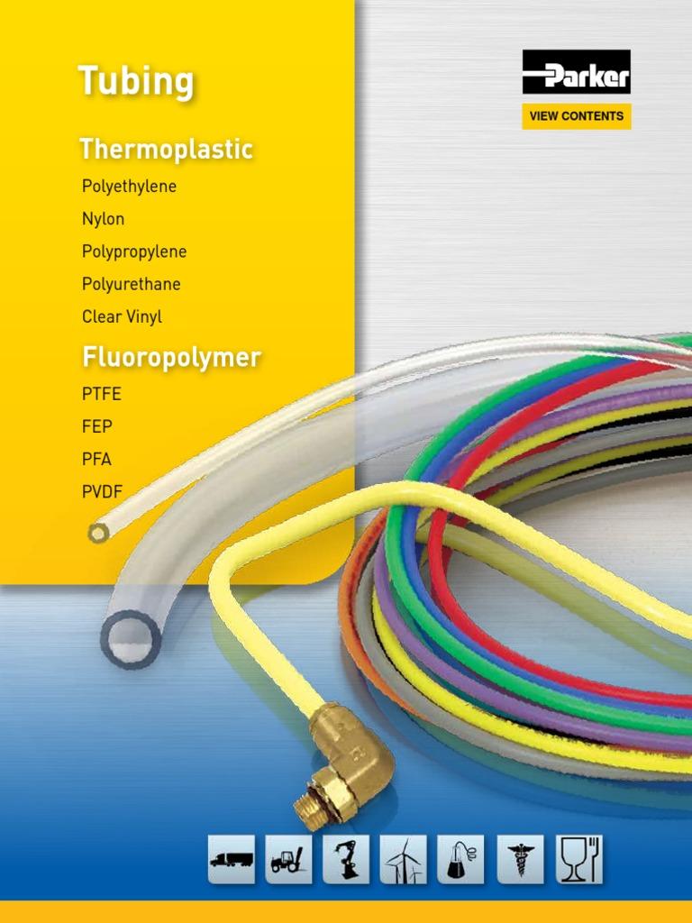 Parker NNR-4-035-0050 Tubing 50 1//4 OD Nylon Natural