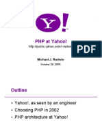 Php at Yahoo Zend2005
