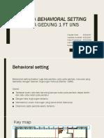 Analisa Behavioral Setting (1)