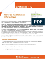 Fiche 14 - Informatique-Comment Gerer La Maintenance de Son Parc Informatique