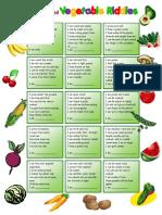 Fruit and Vegetable Riddles Keys