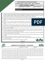 Prova 40673 Pcpr 2017 Ibfc Cargo 40367 Especialidade 30710 Prova