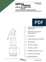 Válvula de Seguridad SV615-Instrucciones de Instalación y Mantenimiento