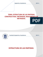 Clase_11 Estructura de Las Partidas. Metrados (1)