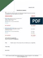 1) CADCAM 20 PCs; Qutation Computer 07-08-17