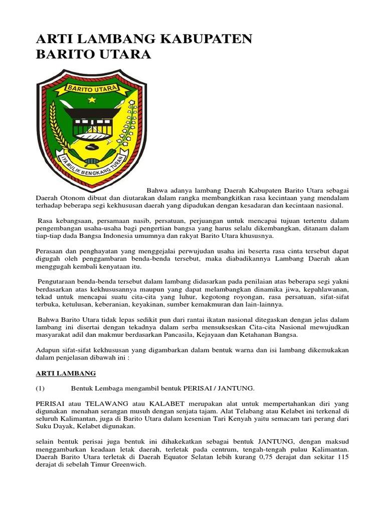 Arti Lambang Kabupaten Barito