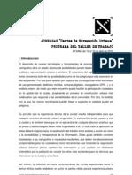 Programa_Taller de Trabajo_Cartas de Navegacion Urbana