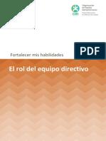 El Rol Del Equipo Directivo