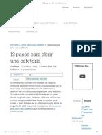 13 Pasos Para Abrir Una Cafetería _ Café