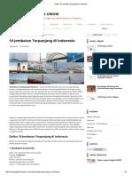 Daftar 10 Jembatan Terpanjang Di Indonesia